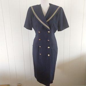 Leslie Day nautical vintage dress